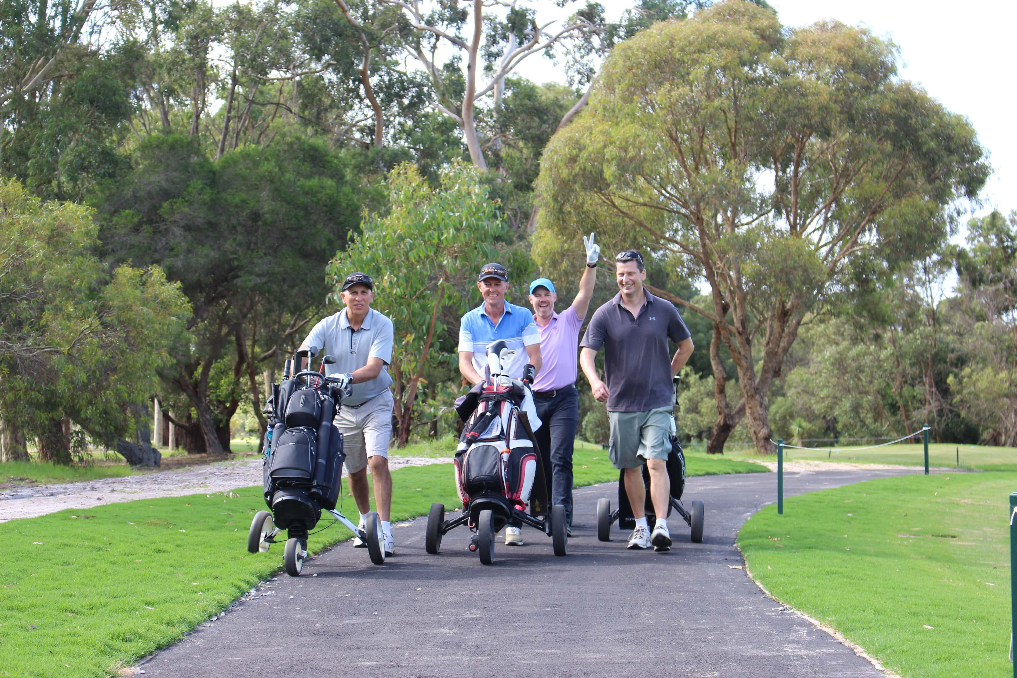 Centenary Park Golf Course playing group